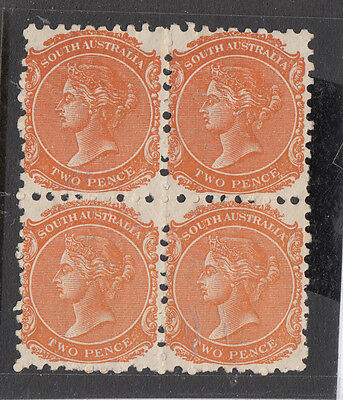 NEW SOUTH WALES SG 168 WMK W13 2d Vic. BLK 4 Perf 10 MNG Cat$280
