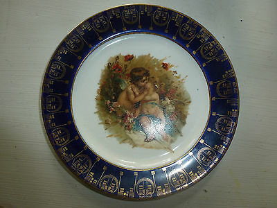 Vintage Southern Potteries, Inc. China Plate w/ Angels Cherubs