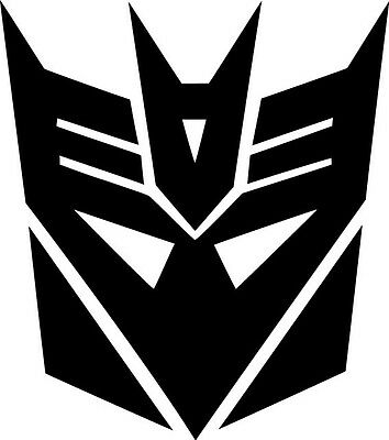 Decepticon Logo Vinyl Sticker Decal Transformers - Choose Size and Color