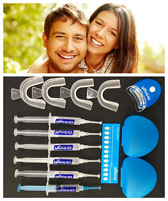 Tooth Bleaching Kit Teeth Whitening Whitener Gel UV Lamp Dental Whiter System