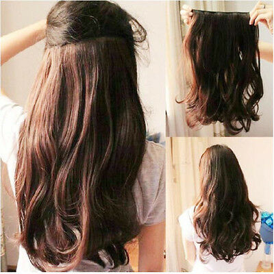 """30"""" 100cm Women Long Straight clip in hair extension Real high quality Hairdo t7"""