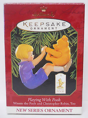 1999 Hallmark Keepsake Ornament Playing with Pooh-QXD4197
