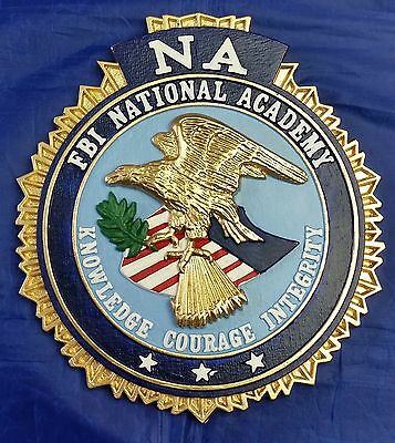 "FBI NA National Academy Full Color 3D Wall / Podium Seal 9"" X 8"" MADE IN USA"