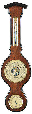 "Aneroid Barometer with Thermometer and Hygrometer 4"" Dial"