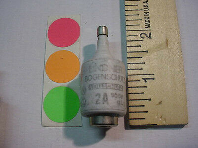 1 New,original Diazed Bottle Fuse, 2Amp. Type D, 500V, Have Qty. Fast Ship