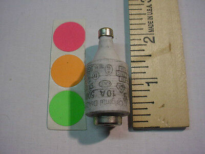 1 New,original Diazed Bottle Fuse, 10Amp. Type D, 500V, Have Qty. Fast Ship