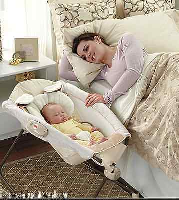 Cradle Crib Bedside Bassinet Newborn Baby Portable Collapsible Sleeper Foldable