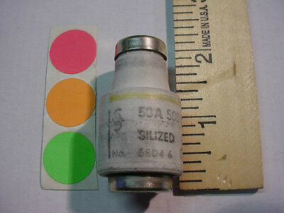 1 New,original Diazed Bottle Fuse, 50Amp. Type D, 500V, Have Qty. Fast Ship
