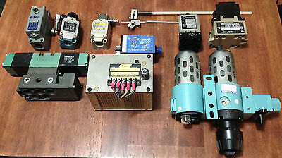 Lot of Electrical/Pneumatic AB SD ATC Timers Filter Limit Switches Power Supply