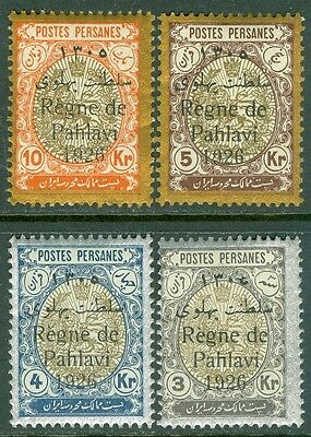 PERSIA : 1926. Scott #717-20 VF MOG. All have correct serif on the '1' of 1926.