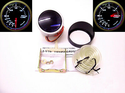 RSR Ladedruck Anzeige SET 52mm SMOKE LOOK Boost Gauge 16V G60 G40 VR6 Turbo RS R