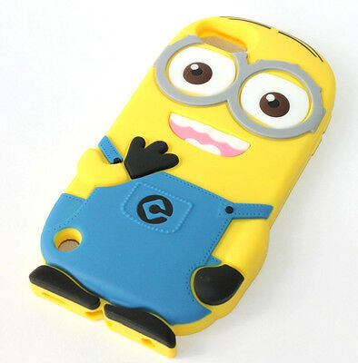 for iPod Touch 5th Generation - CUTE MINION Soft Rubber Silicone Skin Case Cover
