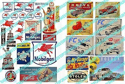 O Scale Mobil, Vehicles 1930's-50's Model Railway Signs - OMV1