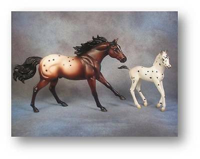 Breyer Horses Classics Size Appaloosa Stallion & Foal Gift Set Ltd Ed  #300330-A