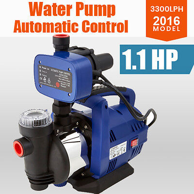 Water Pump 800W Automatic Control Switch Garden Stainless Steel Pressure Pump