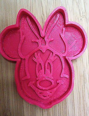 Minnie Mouse Cookie Cutter (2 piece) - Choice of Sizes - 3D Printed Plastic