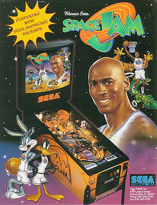 1997 Sega Space Jam Pinball Flyer Mint