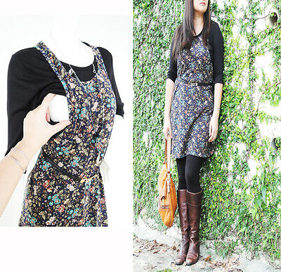 FLORAL Maternity Dress Clothes Nursing Clothing Breastfeeding Tops Shirt Tunic