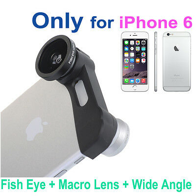 3-in-1 180° Fish Eye Fisheye + Wide Angle + Macro Lens Kit for iPhone 6 4.7''