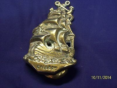 "Early  Brass "" Galleon "" Door Knocker  Y116"