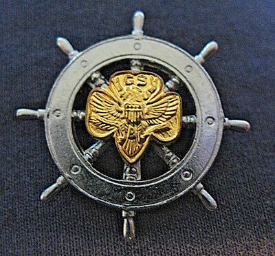 1940s Mariner Girl Scout Membership Pin Ship's Wheel Unique GIFT Multi=1 Ship Ch