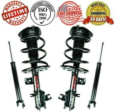 Front Complete Strut & Spring Assembly Quick + Rear Shocks for ALTIMA 2.5L 07-12