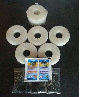 5 x COMPATIBLE BiORB HALO FILTER SERVICE KIT BIO ORB REPLACEMENT COAT ZYME