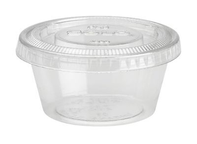 2oz Plastic Jello Shot Cups with Lids - 250ct Disposable & Easy to Transport **