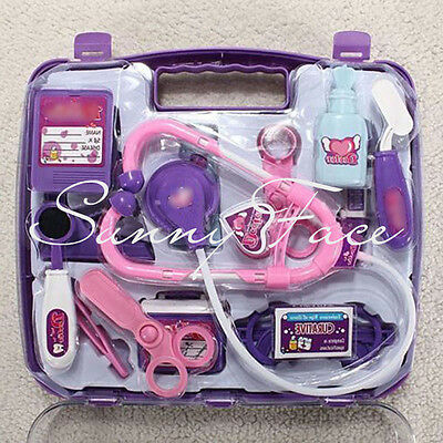 Pretended Doctor's Medical Play Set & Carry Case Medical Kit Kids Toy New