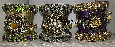 Decorative Hand-Made Candle Holder Set Of 3.