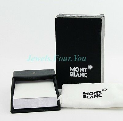 Montblanc Desktop Black Calfskin Leather Memo Note Box New Box 6184 Germany