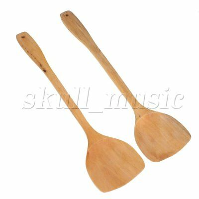 2 x Environmentally Friendly Spatula Wooden Spoon Cooking Utensils