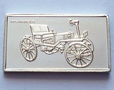 Classic Cars Marcus 1875 Silver Proof Ingot Made from Franklin Mint !