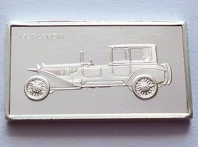 Classic Cars Lancia 1924 Silver Proof Ingot Made from Franklin Mint !