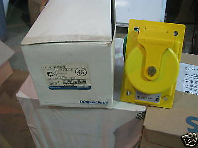 T & B Russellstoll 9R33U2W, 30 Amp, Pin & Sleeve Receptacle, NEW- PS51