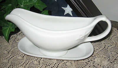 U.S.Q.M.C. emblem WWII Shenango China 1941 Gravy Boat Military Serving Tableware