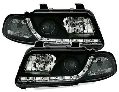 Phares Feux Avant Devil Eyes Noir Led Audi A4 B5 1994-1999 1.6 1.8 & T 2.8 1.9 T