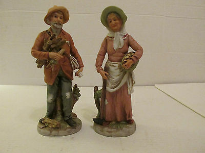 Vintage Figurines Country Harvest Homco Home Interior 8884 2 Pc. Set