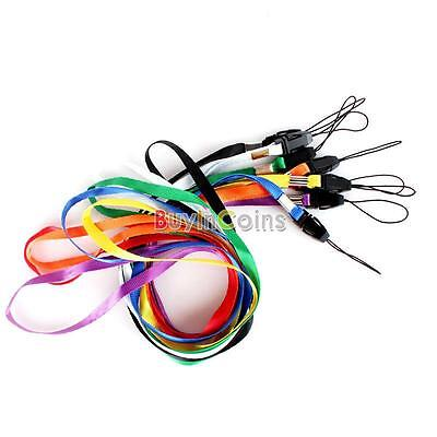 Flat Wrist Strap Lanyard Colorful For Camera Cell phone MP3 MP4 Practical