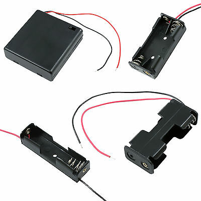 AA/AAA/9V/PP3 Battery Holder/Connector Enclosed or Open with Switch