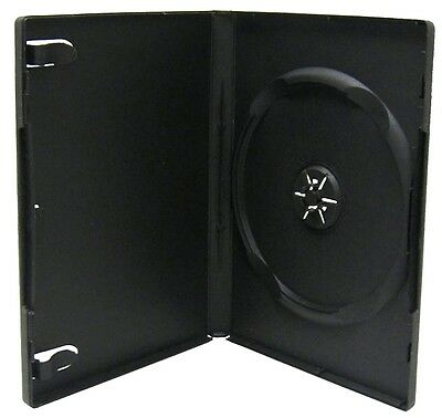 Standard 14mm Black Box DVD Case CD Holder - SHIPS FREE