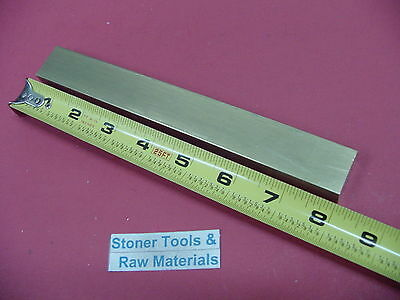 "1/2"" x 1"" C360 BRASS FLAT BAR 8"" long Solid Mill Stock H02 .50""x 1.00""x 8"""