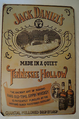 RETRO STYLE TIN SIGN - Jack Daniels - Made in a Quiet Tennessee Hollow