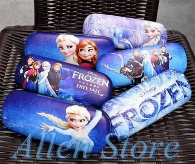 2017 New Frozen Elsa Anna Olaf Glasses Eyeglasses Cases box Leather kids Gifts