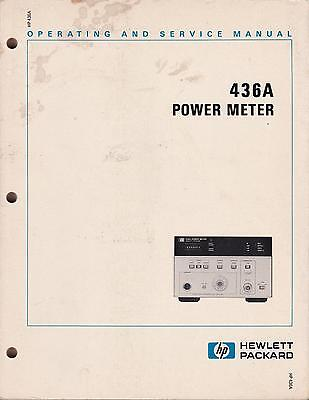 Operating & Service manual for HP 436A