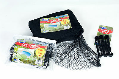 Pond Netting & Pegs 3mtrs x 8mtrs Black (12 pegs)