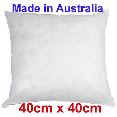 Made In Australia - CUSHION PILLOW INSERT polyester 40cm x 40cm New