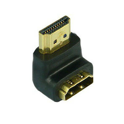 HOT Gold Plated HDMI Right Angle Male   Female Adapter 90 Degree CP168