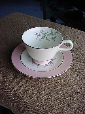 Vintage 1950s Homer Laughlin Cavalier Pink Barclay Pattern Cup & Saucer
