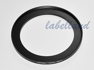 67mm-82mm Filter Adaptor Ring Converts 67mm lens thread to 82mm 67-82 Step-Up UK